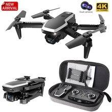 S171 pro fpv mini zangão 4k hd câmera dupla 2.4g rc quadcopter altitude hold coreless motor wifi drones dobráveis com câmeras dron