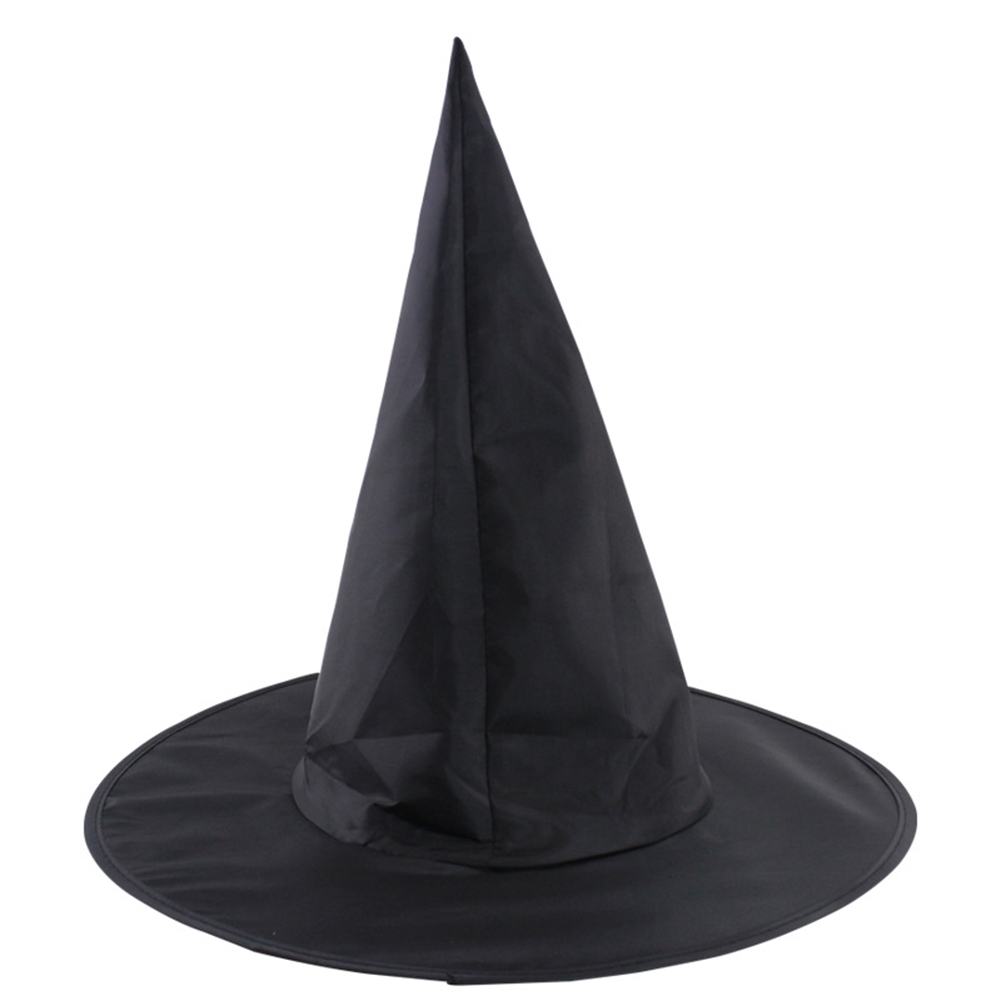 Adult Women Black Top Hat Pointy Cap Halloween Party Costume Cosplay Accessory  Party Fancy Dress Decor