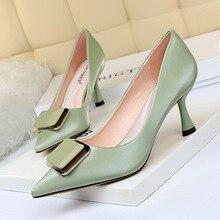 Women Shoes Ladies Pumps Luxury Heels High-Heels Pointed-Top Fetish Sexy Big-Size Bigtree