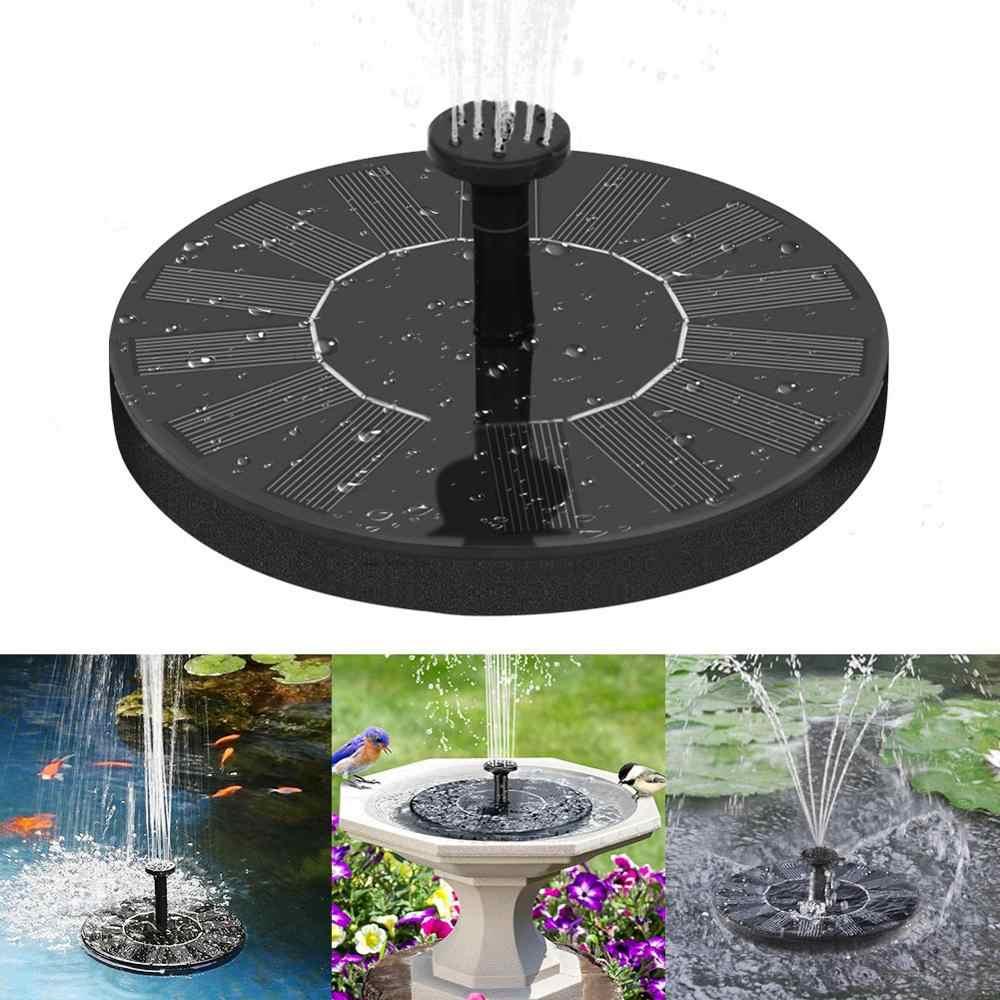 Solar Fountain Mandi Burung Teras Pemandangan Mengambang Pompa Air Kolam Taman Kolam Renang Kolam Air Terjun Dekorasi Solar Powered Air Mancur