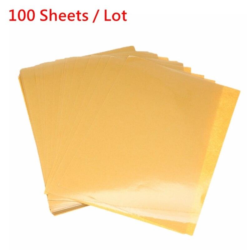 Toptan 100 yaprak/Lot A4 PVC yapıştırıcı şeffaf etiket lazer yazıcı için laminasyon filmi güçlü yapışkanlı vinil çıkartma yeni