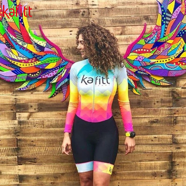 Equipe de Triathlon kafitt Radfahren jersey define Uniforme Anzug frauen Langarm Bademode Mujer Ropa ciclismo Skinsuit Geral Trisuit 3