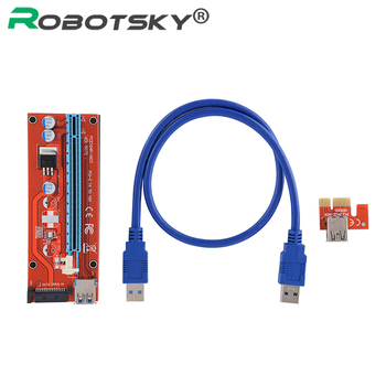 PCI-E 1X to 16X Graphics Card Extender cable SATA Power Cable USB3.0 Z coin ETH Mining Card 007S vodool pci e extender pci express riser card 1x to 16x 60cm usb 3 0 cable sata to 4pin molex power for bitcoin mining miner