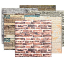 Self-adhesive Wallpapers 3D Retro Brick Wall Stickers Decor Home Improvement Living Room Bedroom Restaurant Waterproof Stickers