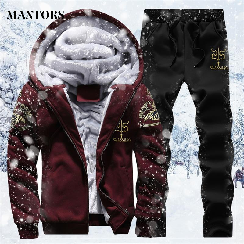 Erkek takım elbise pantolon sonbahar kış büyük boy sıcak eşofman spor erkek koşu eşofman takımı 4XL Jogger erkek Hoodies ceket