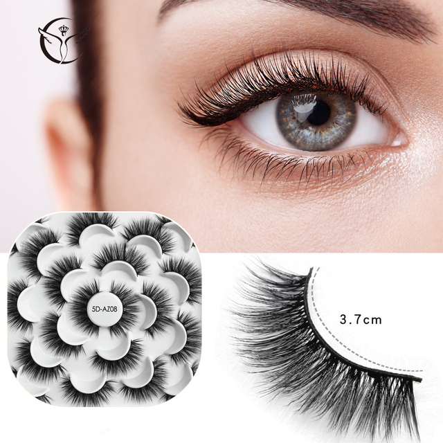 Mink eyelashes 3d mink hair eyelashes10 pairs long makeup 3d faux nature fake lashes extension false eyelashes Wholesale (10P) 5