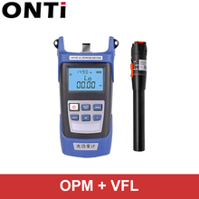 ONTi סיבים אופטי כלי ערכת FC/SC מחבר VFL OPM מד כוח אופטי לייזר מקור תקלה חזותית Locator 1/10/20/30mW 5 30km