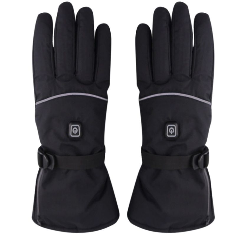 Motorcycle Gloves Waterproof Heated Touch Screen Battery Powered Gloves  Winter Riding Skiing Warmer Gloves