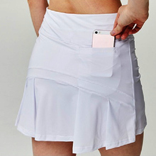 Shorts Badminton Tennis-Skirts Sport High-Waist Women Athletic with Phone-Pocket-Girl