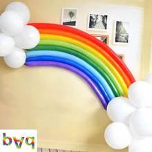 Rainbow  Balloons Cartoon Long Balloon Shower Birthday Party Wedding Summer Decoration Free Shipping