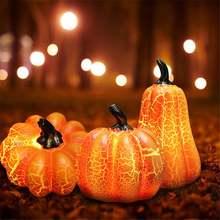 Полимерный фонарь в виде тыквы на Хэллоуин светодиодный ночсветильник