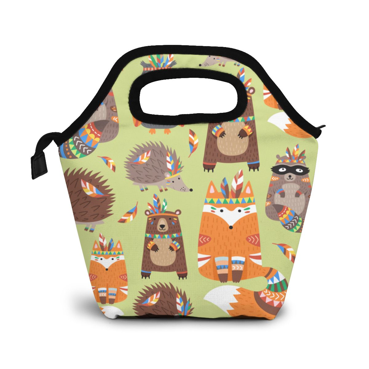 Indians Animal Lunch Bag Lunch/ice Bags Portable Insulated Picnic Food Box for Women Men image