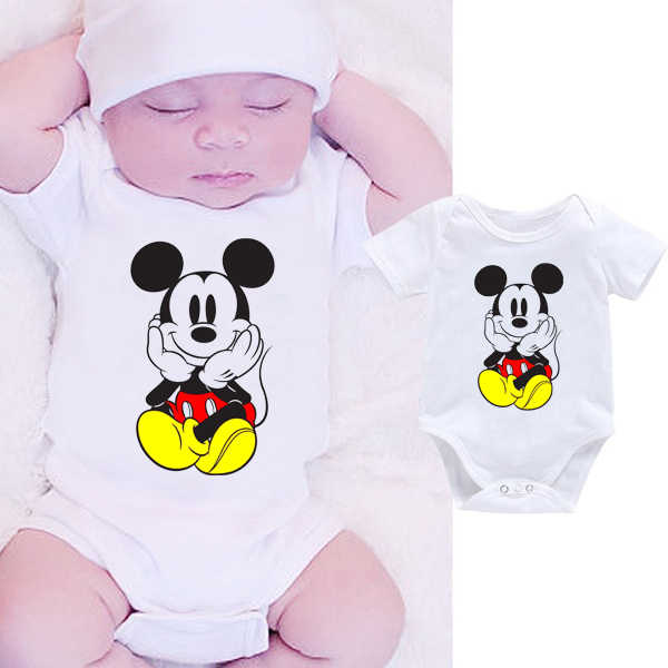 DERMSPE Cartoon Infant Newborn Baby Boy Girl Clothes Body Romper Outfit White Jumpsuit Short Sleeve Hot Sales