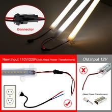 LED Bar Light 220V 110V High Brightness 8W 50cm 72LEDs 2835 LED Rigid Strip Energy Saving LED Fluorescent Tubes 5pcs/lot.