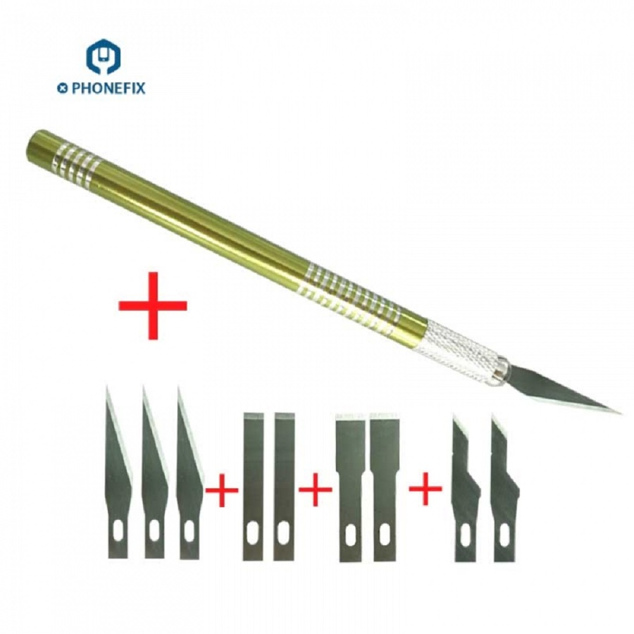 PHONEFIX Phone PCB BGA Chip Repair Cutting Knife Wood Paper Cutter Engraving Knife For IPhone A9 A10 A11 CPU Repair Hand Tools
