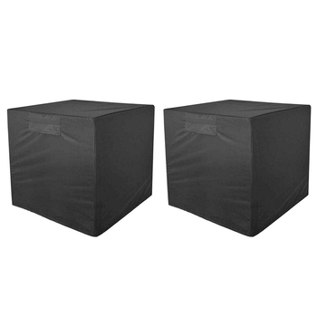 2 Pack Square Protective Cover Waterproof and Dustproof Cover for Air Conditioner Durable Protective Cover Dust Cover Snow Cover