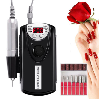 Hot Nail Polishing Machine Electric Nail Drill Machine Rechargeable Strong Polishing Manicure Tools Women Girl Nail Art Tool t6
