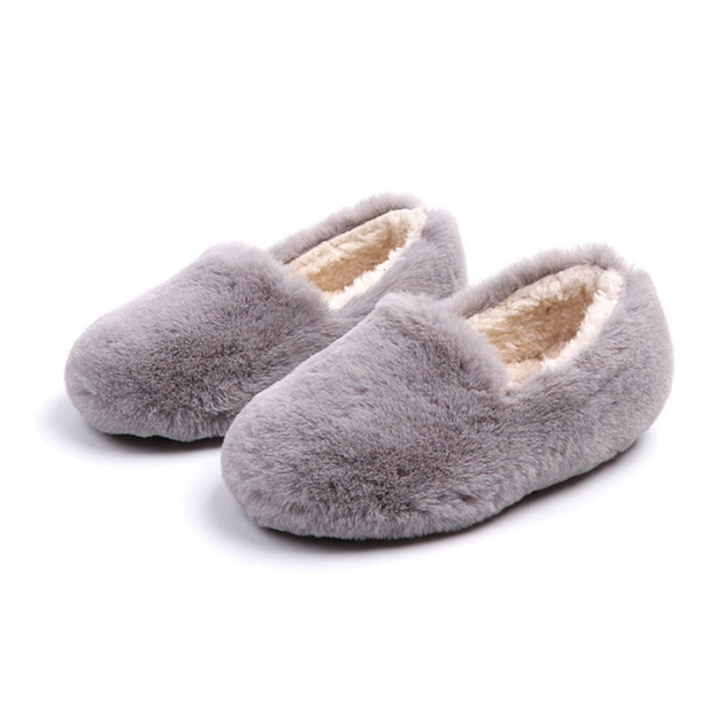 Kids House Shoes Girls And Boys Fur Slippers Children Cotton Shoes 2019 New Kids Winter Slippers Cute Winter Warm Shoes