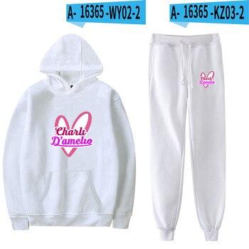 Nes Charli Damelio Merch Hoodie Womens Tracksuit Sweatpants Suit Charlie Damelio Shirt Trousers Sets Unisex Clothes Print Casual 17