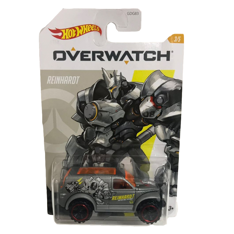 Hot Wheels 1:64 Car OVER WATCH Tracer Roadhog Reinhardt Soldier 76 Collector Edition Metal Diecast Model Car