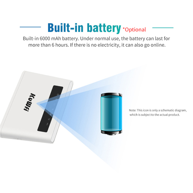 6000mAh Built-in Battery 4G LTE Router