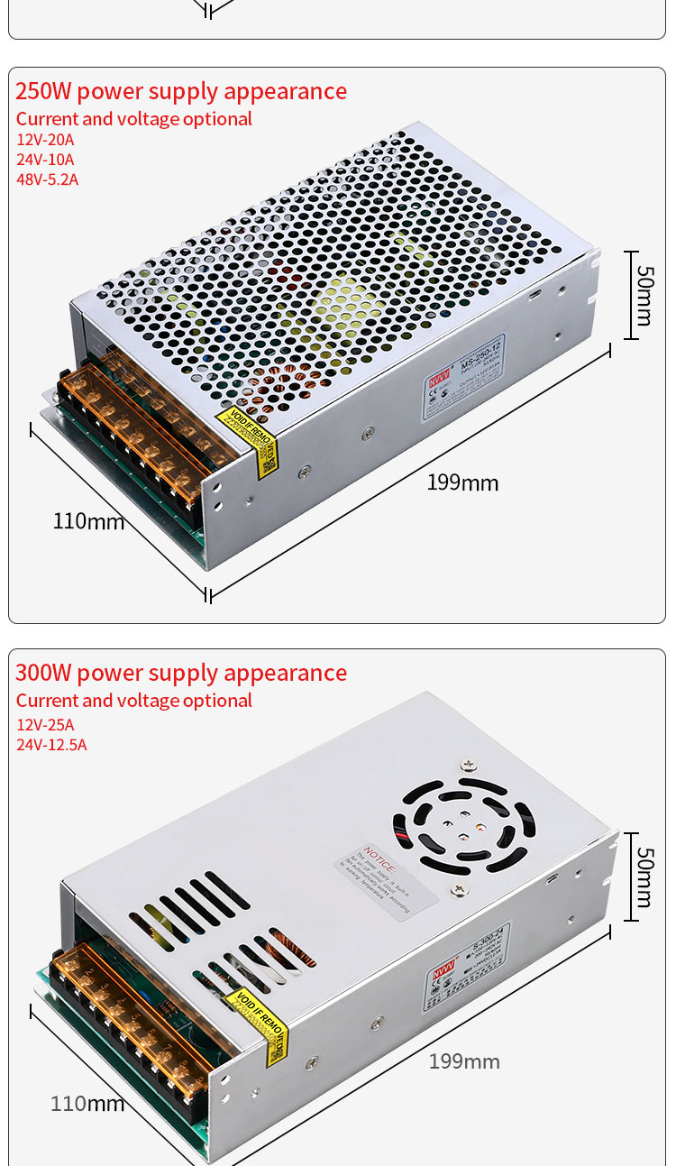 Hc17c25b518694fa0adc42ef2d79cc518R - NVVV switching power supply 15 w-400 w ac110/220v dc 5v 12 v 24 v 36 v 48 v60 v dc power supply (400w60v6.7a for RD6006)