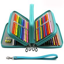 72 Holes School Pencil Case Big Pen Box for Girls Boys Cartridge Bag Large Pencilcase 4 Layers Penal Stationery Pouch Supplies