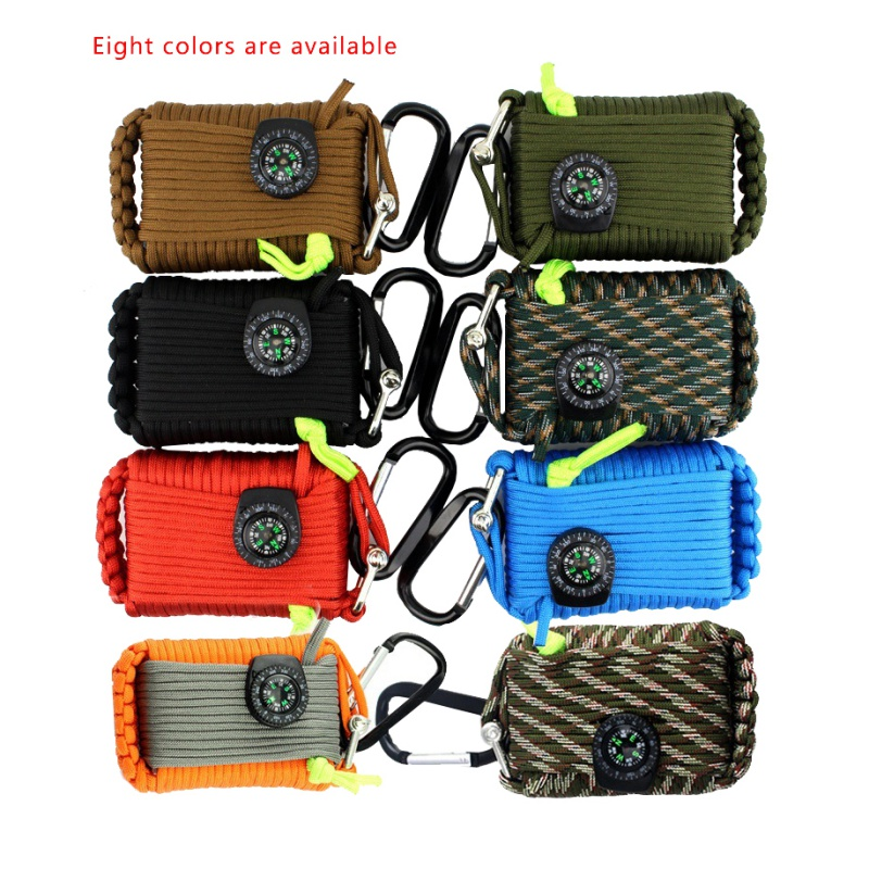 20 Pcs SOS Emergency Equipment Accessaries emergency bag field survival box self help box equipment for Camping Hiking Safety & Survival     - title=