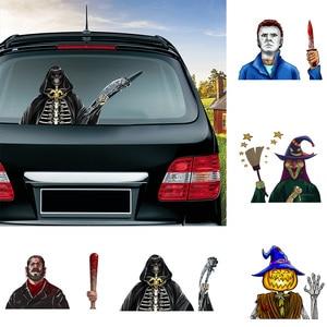Image 1 - Halloween Horror Character Wiper Sticker Removable Car Rear Windshield Waving Wiper Sticker Halloween Car Sticker