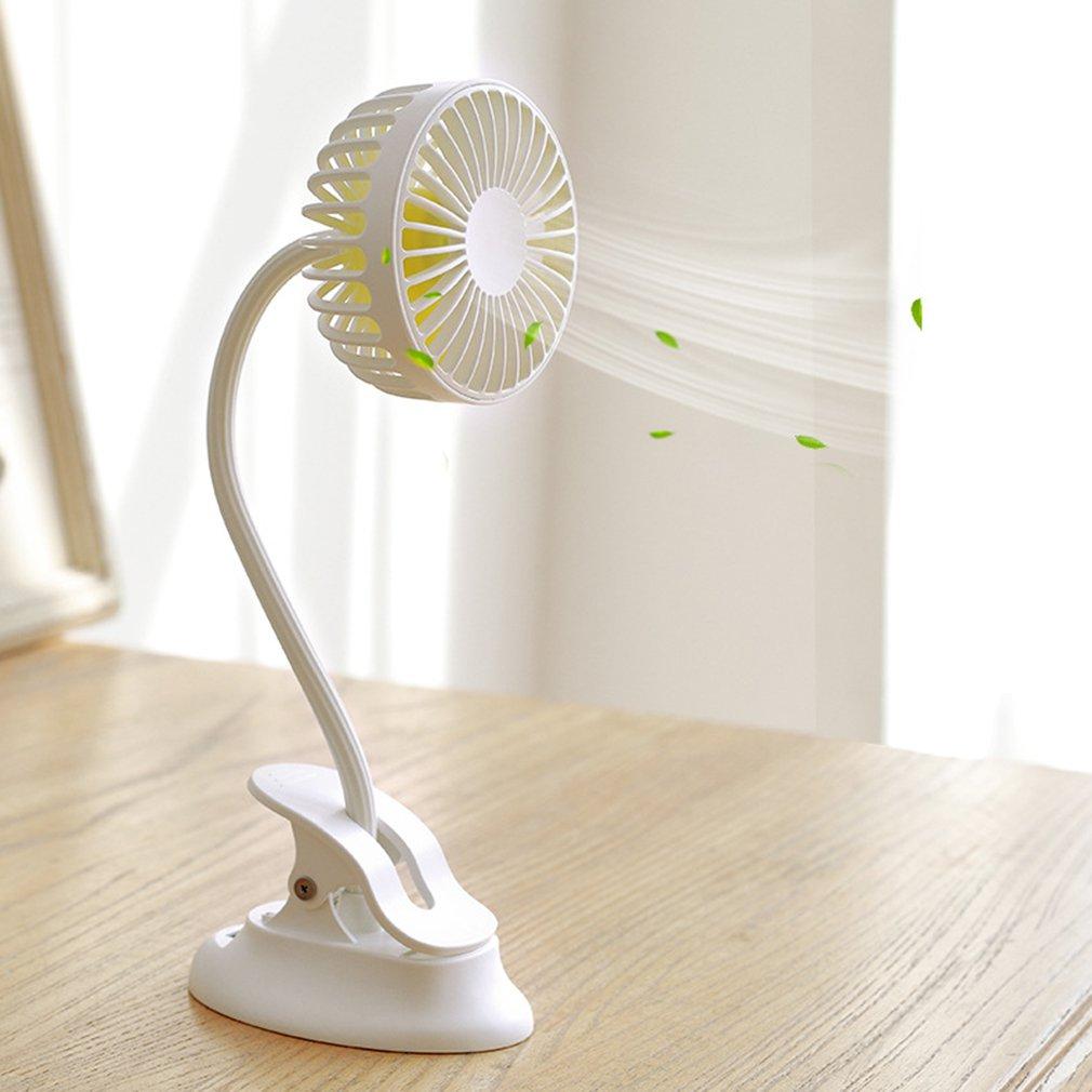 F5 Clip Fan Mini Bench Clamp Dual Purpose Mobile Power Small Fan Bedside Stroller Clip Fan Office Desk Fan