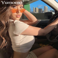 Brand Fashion Rimless Sunglasses Women Personlity Vintage Instagram Red Black Rectangular Sun Glasses UV400 Ladies Eyewear