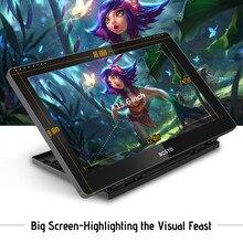 BOSTO Aritist 그래픽 드로잉 태블릿 디스플레이 충전식 스타일러스 펜/16GB USB 디스크가있는 16HD 15.6 인치 모니터 압력 레벨
