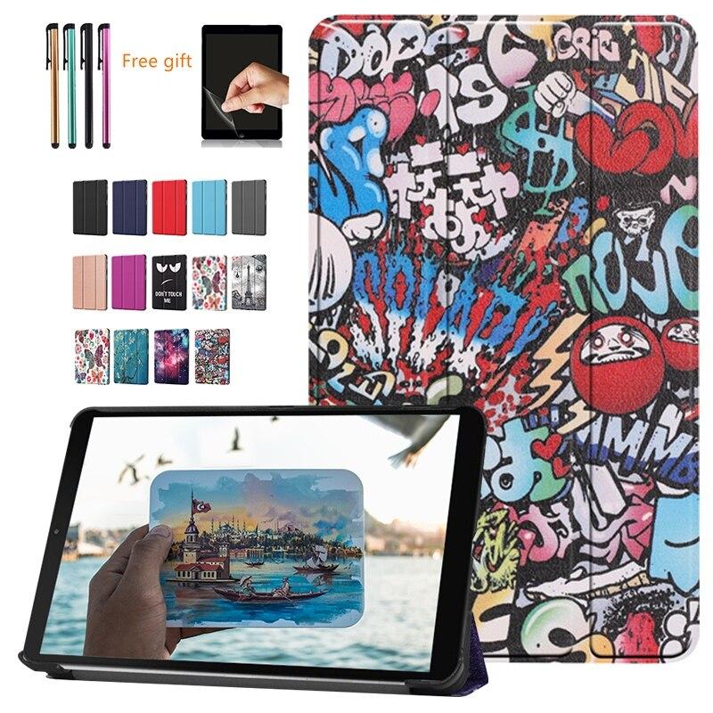 Caso para Amazon Fogo Novo HD10 2019 Tablet Capa Funda para HD Fogo 10 2017 Caso Magnetic Magro Folding Stand shell + filme Caneta Stylus