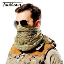 TACVASEN 迷彩、戦術的なスカーフメッシュアラブ Keffiyeh スカーフアラビア綿マスクペイントボール軍事迷彩ヘッドスカーフエアガンマスク