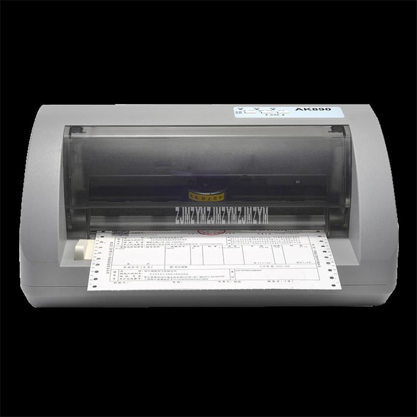 AK890 Needle Type Dot Matrix Printer Express Tax Delivery Bill Electric Automatic Office Invoice Printer 1+5P Copy Ability