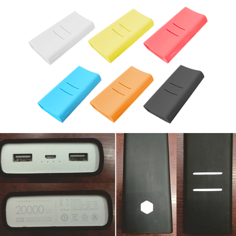 Anti-slip Silicone Protective Case Cover For Xiaomi Mi 2C 20000mAh Power Bank Bags Solft Color Case Accessories For Xiaomi Mi 2C