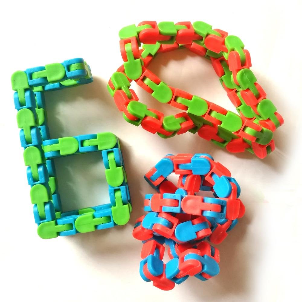 Toy Chain Bracelet Fidget Spinner Anti-Stress Adult Educatiaonal-Toys Children for Kids img4