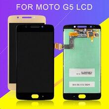 Catteny 5,0 дюймов для Moto G5 дисплей в сборе для MotoRola XT1672 XT1676 ЖК-дисплей с сенсорным экраном дигитайзер Бесплатная доставка с инструментами