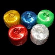150/350 grammes de nouveau matériau coloré, emballage de cerclage en plastique, corde à déchirer, Film avec boule d'herbe, corde d'attache