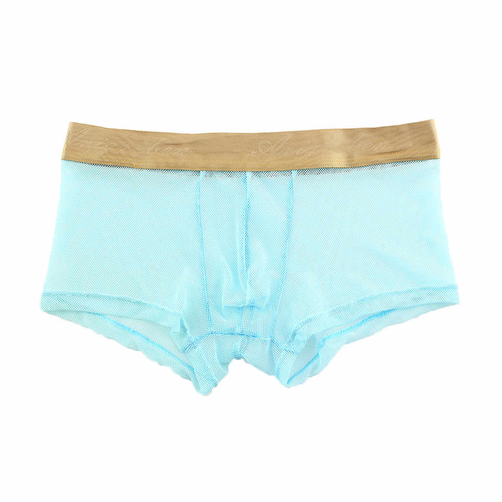 Sexy Men Boxer Soft Breathable Underwear Men's Soft Underpants Knickers Shorts Solid Color Underwear Men cueca masculina