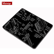 Gun black cloth mouse pad 20x18cm firearm exploded view disassembly