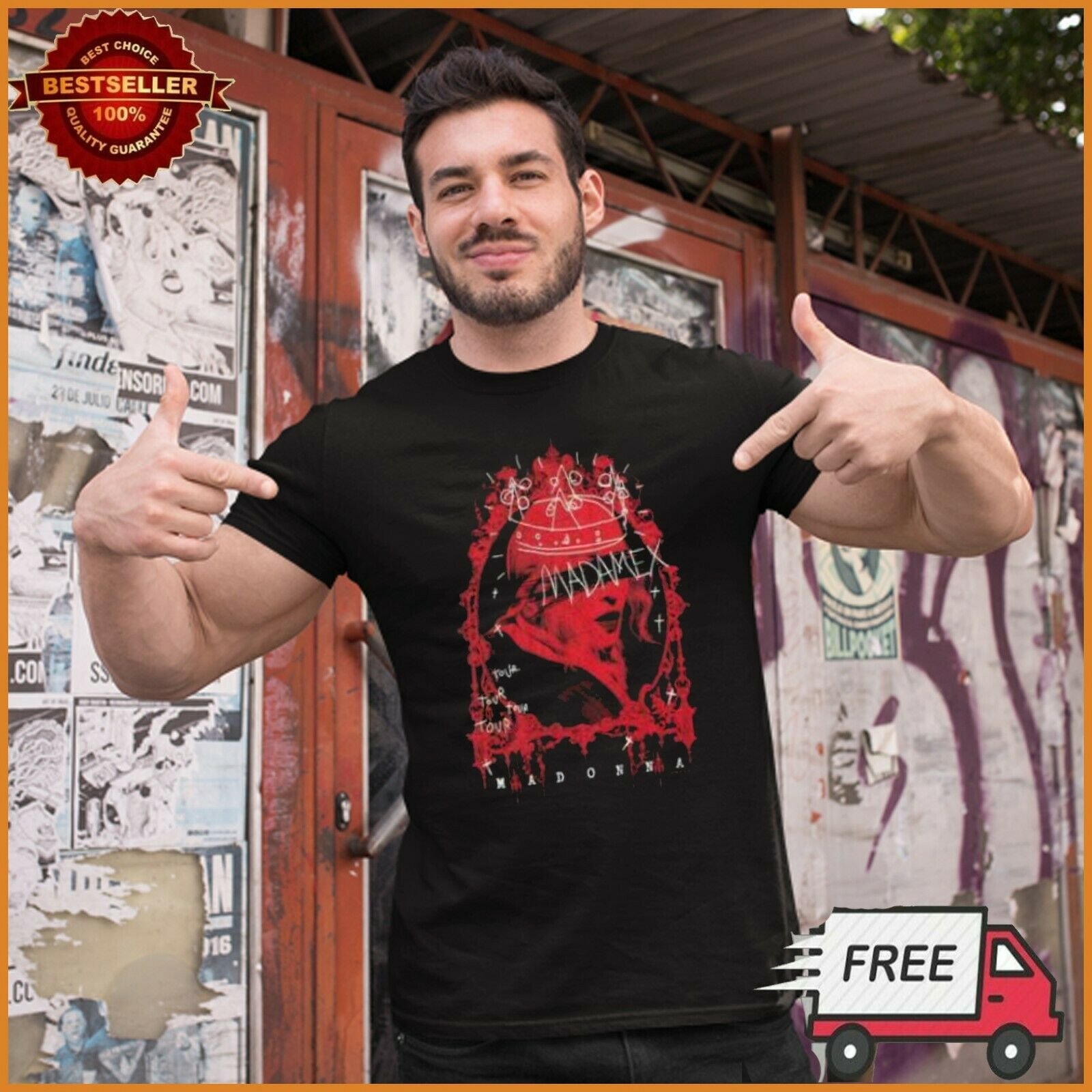 Madame X Tour Madonna Shirt Madonna T Shirt Singer Black Unisex S 6Xl Freeship