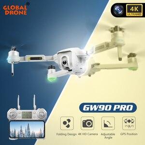 4K GPS Drone FPV drony z kamera WiFi HD składany Quadcopter helikopter Dron zabawki VS F11 PRO SG907 E520