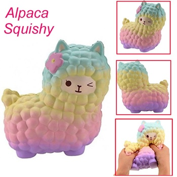 2018 newest creative personality toys lollipop holder decompression robot decompression candy dustproof gift toys for children Jumbo Sheep Squeeze Toys Squishy Alpaca Galaxy Decompression Toys Super Slow Rising Scented Gift Animal Toys for Kid Children
