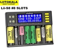 LiitoKala-cargador de batería LCD Lii-S8, cargador de batería NiMH de 1,2 V, AA, AAA, Li-FePO4, 3,2 V, IMR, 3,7 V, para 26650, 21700, 26700, 18350, 18650