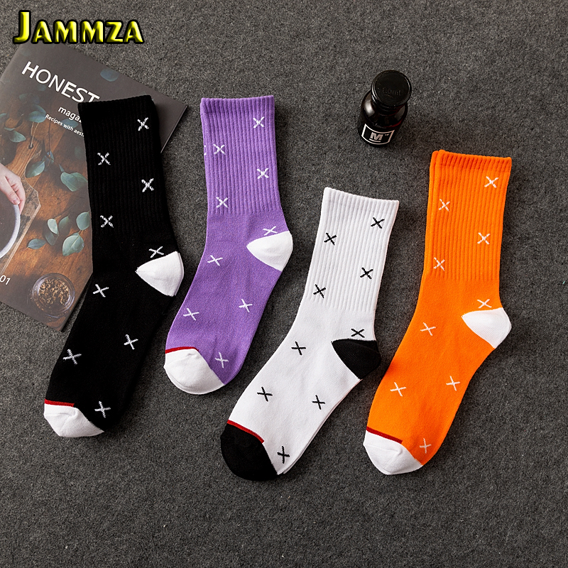 New Men Hiphop Street Sporty Socks Cotton Casual Harajuku Crew Solid Skateboard Women Girl Couple Europe Style Fashion Wild Sox