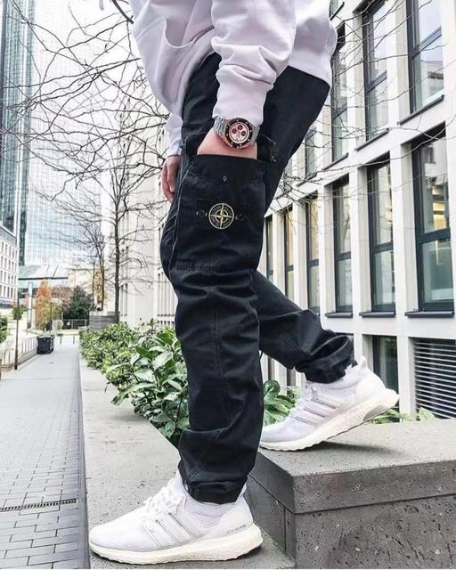 Popular Brand Stone Island 19ss Base-Multi-pockets Bib Overall Casual Pants Classic Style Straight-Cut Casual Trousers 4