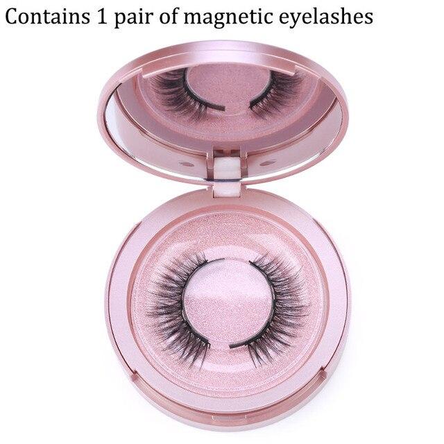 Magnetic Eyelashes 3D False Mink Eyelashes Magnet Lashes Magnetic Liquid Eyeliner Magnetic False Eyelashes Tweezer Set