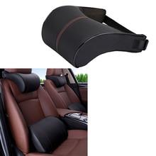 1 Set Car Pillow 3D Memory Foam Car Neck Pillow Cotton Car Seat Cushion Lumbar Support Universal Back Pillow Auto Accessories