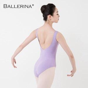 Image 2 - Leotardo de Ballet para mujer, traje de baile de práctica, para Adulto, aerista, gimnasia, sin mangas, leotardos rojos, bailarina, 5684